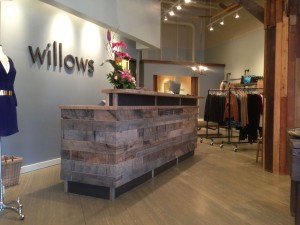 Willows - Reclaimed Oak Checkout Counter